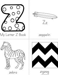my letter z minibook 4 sheet pg1