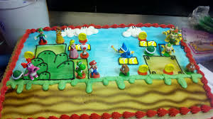 As the fictional protagonist of the mario video games. Mario Bros Birthday Cake By Captor2 Cakes On Deviantart