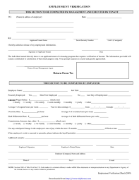 Free Employment Verification Form Template Employment Verification Form Templates Free Templates in DOC PPT 25