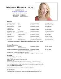 Acting Resumes 6 Acting Resume .