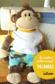 Teddy Bear Sewing Pattern Beauteous Easy Free Sewing Pattern For Teddy Bear Pajamas It's Always Autumn