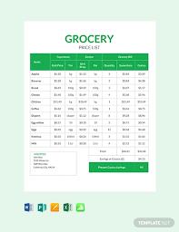 Microsoft Word Price List Free Grocery Shop Price List In Microsoft Word Excel Publisher