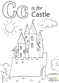 Small Picture Letter C is for Castle coloring page Free Printable Coloring Pages