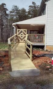Wood Wheelchair Ramp Install Winston Salem Nc Kitchen And