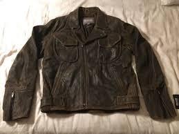 wilsons leather billings motorcycle jacket l mens distressed brown hd jacket nwt