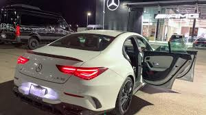 The cla 45 amg edition 1 features the night package, red accents on the radiator grille and exterior mirrors, and amg sports stripes in matt graphite grey above the side sill panels. Pin On Auto