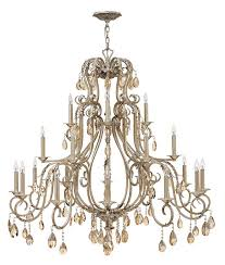 hinkley 4779sl carlton 21 candle silver leaf finish 45 inch diameter dining room chandelier loading zoom