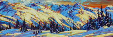 on top of whistler mtn 16 48 acrylic on canvas