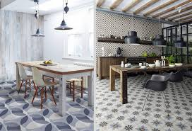 these rooms successfully mix retro patterned tiles with rustic and mid century furniture to create a unique modern look packed with character