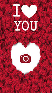 i love you photo frames heart effect card editor 4