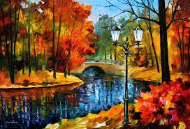 sublime park palette knife oil painting on canvas by leonid afremov size 40