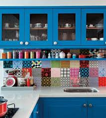 colorful kitchen ideas. Colourful Back Splash Kitchen Ideas - Bright Tiles And Cabinets Make For A Great Colorful