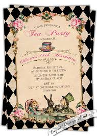 bridal shower invitations fascinating mad hatter bridal shower invitations design to create your own bridal