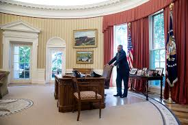 president oval office. US President Barack Obama Talks On The Phone In Oval Office, July 25, Office