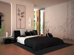 relaxing bedroom color schemes. Bedroom:A Calming Bedroom Color Schemes With Bamboo Wallpaper And Paintings Black White Relaxing A