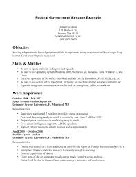 Example Of Federal Government Resumes Federal Government Resume Format Government Job Resumes Example