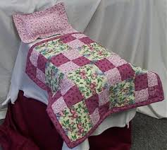 66 best American Girl Doll Bedding images on Pinterest   Baby ... & American girl doll size quilt rose floral country squares pattern. $25.00 Adamdwight.com