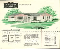 Small Picture Factory built houses 28 pages of Lincoln Homes from 1955 Retro