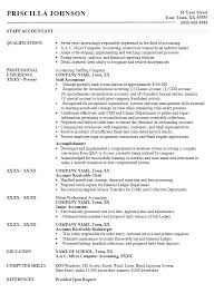 Junior Staff Accountant Resume Staff Accountant Resume Cover Letter