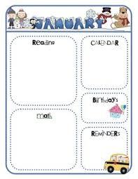 Monthly Newsletter Template For Teachers Monthly Class Newsletter Templates Welcome Back Class