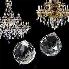 universal chandelier clear glass crystal round faceted ball lamp prism drop pendant 40mm