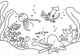 8月の無料ぬりえ夏野菜海の生き物水着サンダルかき氷