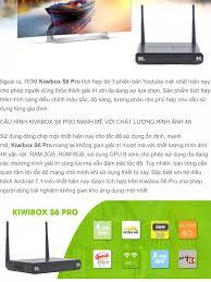 Android Tivi Box KIWIBOX S6 PRO - Tặng REMOTE KIWI V3 có Voice Search -  Phân Phối bởi Miracles Company