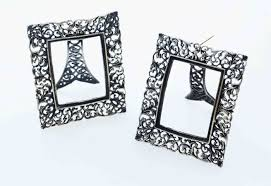 lot two picture frames 925 sterling silver filigree austria ca