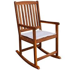wooden rocking chair with cushion. Wonderful Rocking Festnight Garden Wood Rocking Chair Cushions Armrest Wooden Outdoor  Armchairs Porch Patio Living Room Furniture  With Cushion K