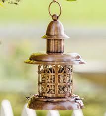 vintage metal lantern bird feeder