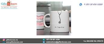 personalized gifts for doctors and consultants white sublimation mug with uv half full uv printing for doctors custom gift bo supplier dubai abu dhabi