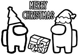 Free printable christmas coloring page. Among Us Merry Christmas Coloring Page Free Printable Coloring Pages For Kids