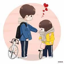 Hình ảnh hoạt hình tình yêu ngọt ngào, lãng mạn, dễ thương đẹp nhất