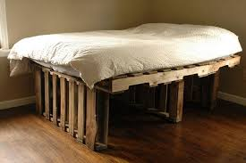 ultra rustic pallet raised bed frame