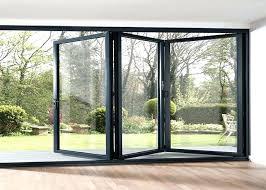 folding glass patio door waterproof aluminum frame folding glass patio doors aluminium framed frosted glass doors folding glass patio door