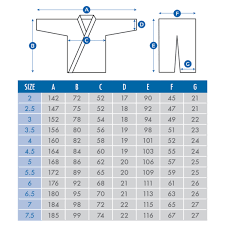 Fuji Gi Size Chart Right Fuji Judo Size Chart All Your Bjj And Judo Needs In One