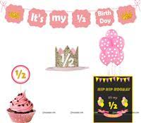 Half Birthday Supplies For Babys 6 Month Birthday Untumble