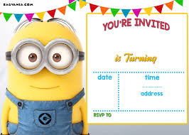 Party Rsvp Template Updated Bunch Of Minion Birthday Party Invitations Ideas