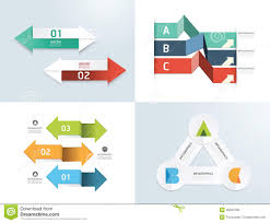 Modern design elements infographic template set.