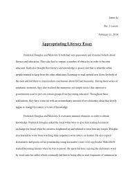 appropriating literacy essay frederick douglass literacy