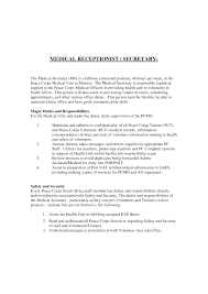 Cover Letter Cover Letter For Medical Secretary Best Cover Letter