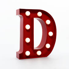 Red Light Up Marquee Letters