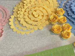 Get design #34 which is the free giant rose design from my free resource library (get the password to the library in the form at the bottom of this post). Step By Step How To Make A Paper Rose Plus Free Paper Rose Template
