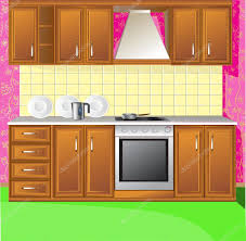 Light Pink Kitchen Light Pink Kitchen Stock Vector Ac Yadviga 1822003