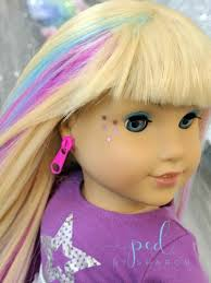 american doll wig chromapop