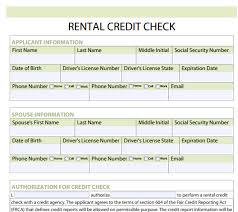 Credit Consent Form Rental Credit Check Forms Free Download And Software Reviews