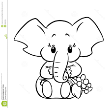 Baby Elephant Coloring Pages Printable In Pretty Baby Elephant