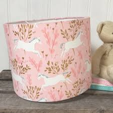 Pink And Gold Unicorn Lampshade Lolly Boo