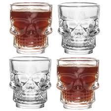 novelty skull shot glasses pack of 4