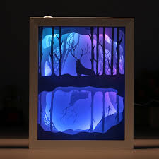 3d Photo Light Box Amazon Com Papercut Light Boxes 3d Shadow Box Led Light